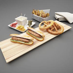 3d食物模型