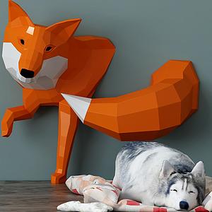 动物狗3d模型