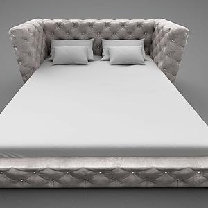 3d現代風格床模型