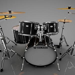 3d架子鼓模型