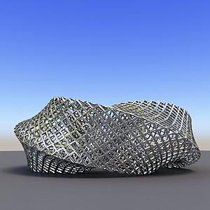 3d<font class='myIsRed'>城市</font>雕塑金屬編織模型