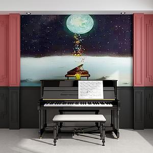 家具組合鋼琴模型