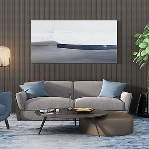3d沙发茶几组合模型