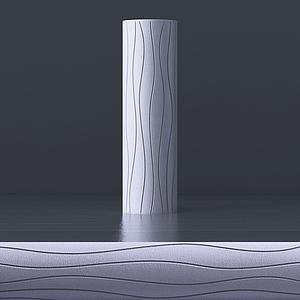 3d現代簡約<font class='myIsRed'>花瓶</font>模型