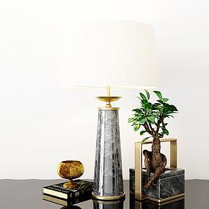 臺燈擺件裝飾品組合模型