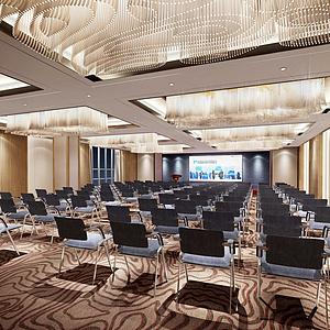 3d会议室模型