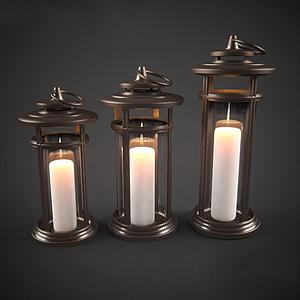 现代蜡烛装饰灯模型