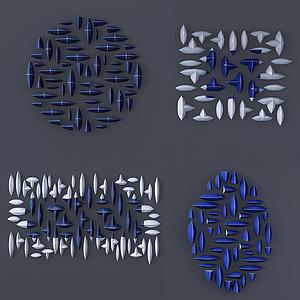 3d现代<font class='myIsRed'>石头</font>装饰画墙饰模型