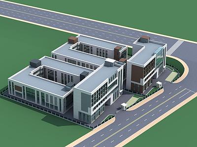 3d綜合樓模型