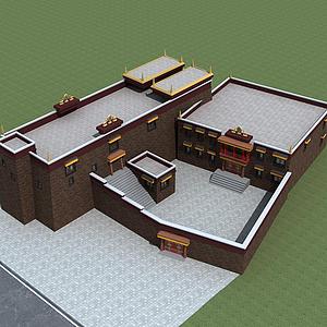3d藏族寺廟模型