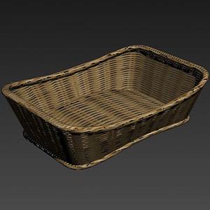 竹籃竹筐模型