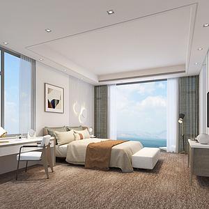 3d客房空间模型