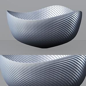 3d贝壳式<font class='myIsRed'>花盆</font>器皿模型