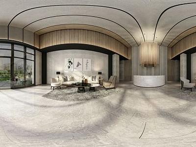 3d大廳模型