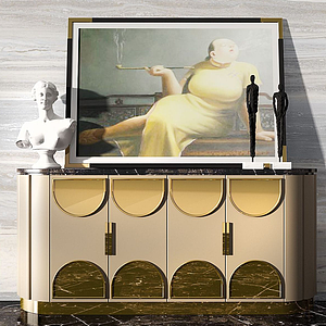 3d装饰柜模型