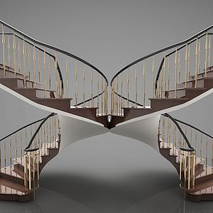 蝴蝶旋轉樓梯模型