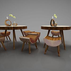 3d<font class='myIsRed'>新中式茶桌</font>組合模型