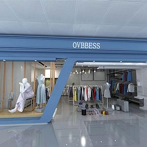3d时尚女装店模型