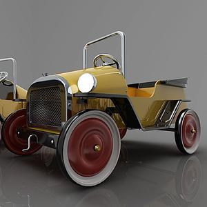现代风格小汽车3d模型