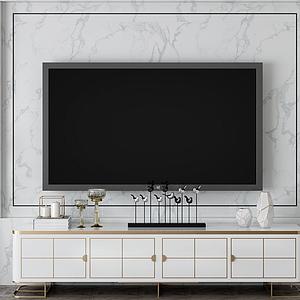家具飾品組合電視柜模型