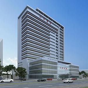 3d醫院<font class='myIsRed'>辦公樓</font>模型