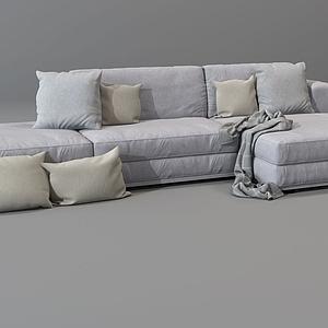 3d現代沙發組合模型