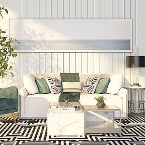 3d沙發組合模型