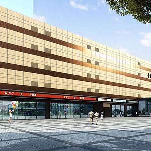 3d商業建筑模型