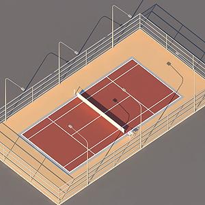 網球場模型