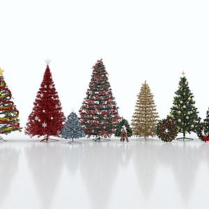 3d<font class='myIsRed'>圣诞</font>树合集模型
