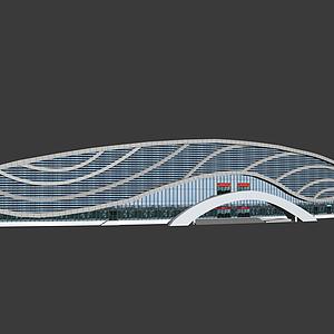 3d体育馆模型