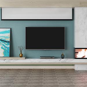 電視背景墻投影模型