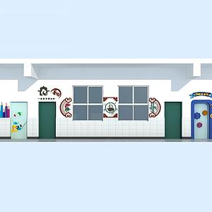 教室走廊模型