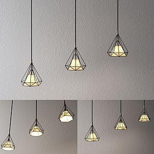 3d钻石造型灯模型