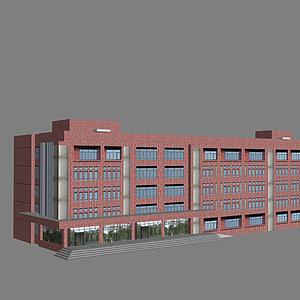 3d教学楼模型