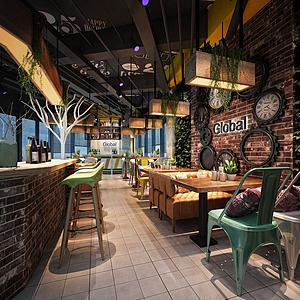 咖啡館、面包房模型
