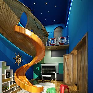 現代兒童房經典模型
