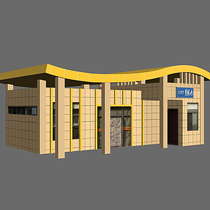 3d公共厕所模型