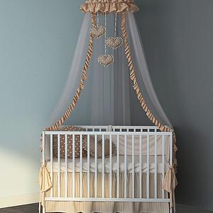 現代公主帳篷兒童床模型