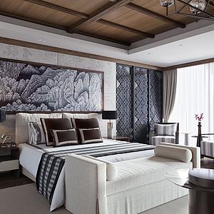 歐式風格臥室模型