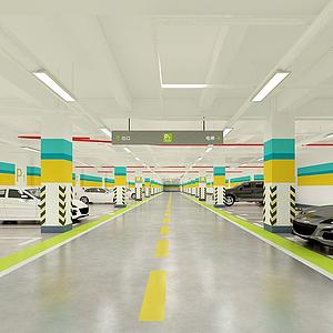 3d现代<font class='myIsRed'>车库</font>地下停车场模型