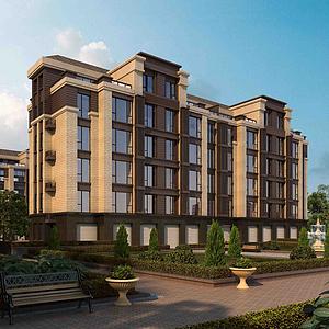 復式住宅樓模型