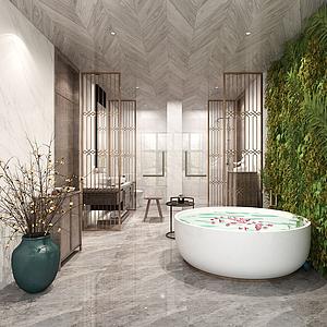 新中式衛浴洗手臺模型