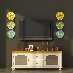 歐式電視柜模型