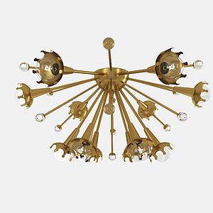 創意金屬吸頂燈模型