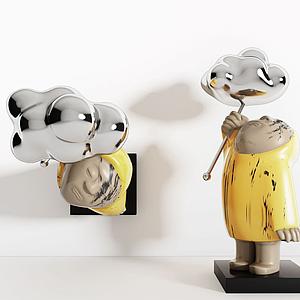 現代雕塑擺件模型