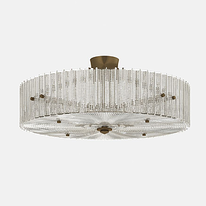 水晶吸頂燈模型