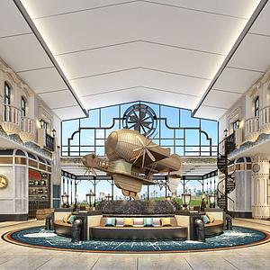 3d大厅大堂模型