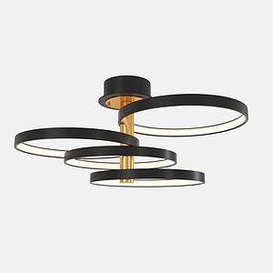 金屬創意吸頂燈模型