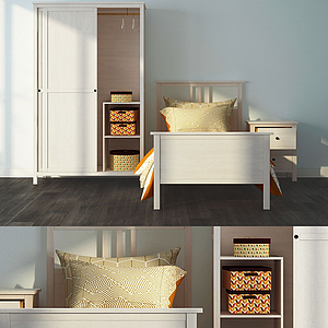 3d<font class='myIsRed'>兒童床</font>衣柜組合模型
